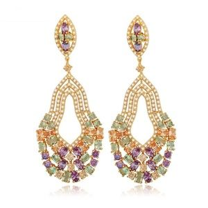 Jewelry - Swarovski Crystals The Juno Long Earrings S23